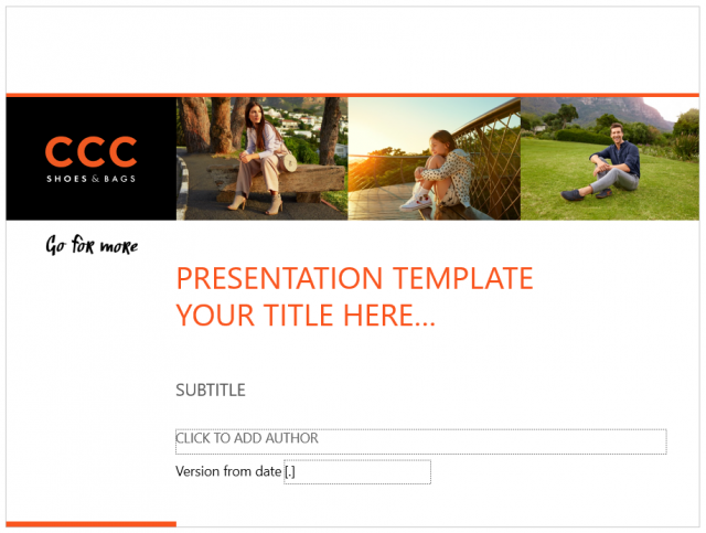 CCC PowerPoint Template & Slide Deck Design