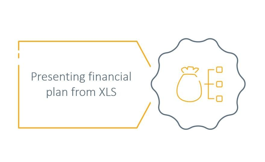 Presenting Financial Plan as an Interesting Visual, not just Excel Block [PowerPoint Q&A]