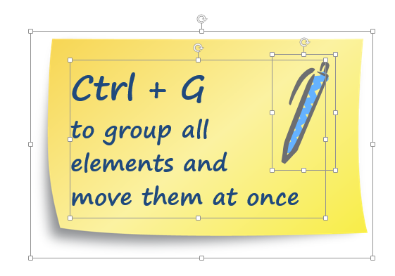 group objects shortcut ppt