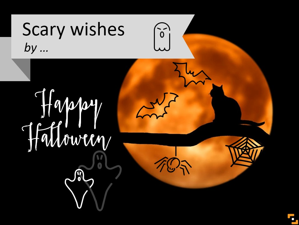 halloween card icons ppt