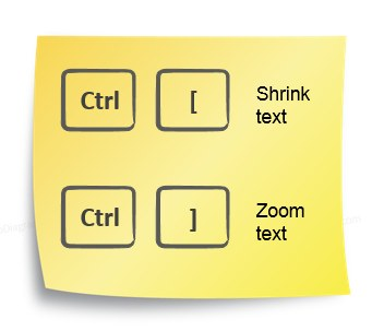 ppt shorcut text shrink